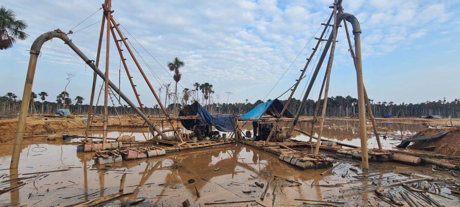 Operativo realizado en la zona de amortiguamiento de la Reserva Nacional Tambopata. Foto: FEMA Madre de Dios