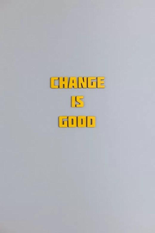 La importancia de los cambios