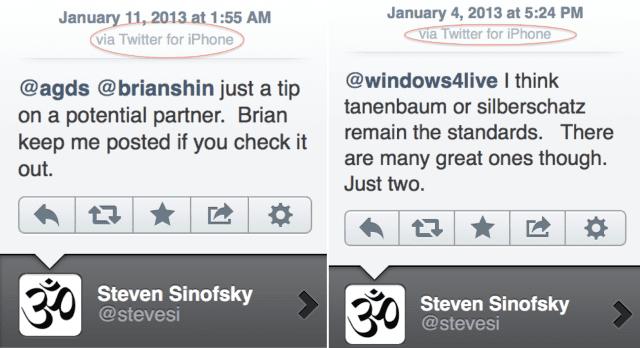 Screen Shot 2013 01 14 at 12.32.40 PM El ex presidente de Windows se defiende por haber tuiteado desde un iPhone