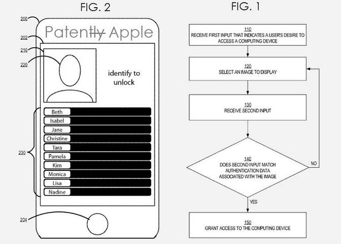 Screen Shot 2013 02 12 at 7.06.13 PM Una patente para desbloquear el iPhone con imágenes