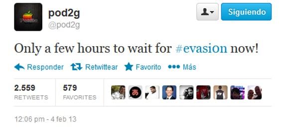 evasi0n lamzamiento Confirmado: lanzamiento de Evasi0n hoy 4 de Febrero de 2013
