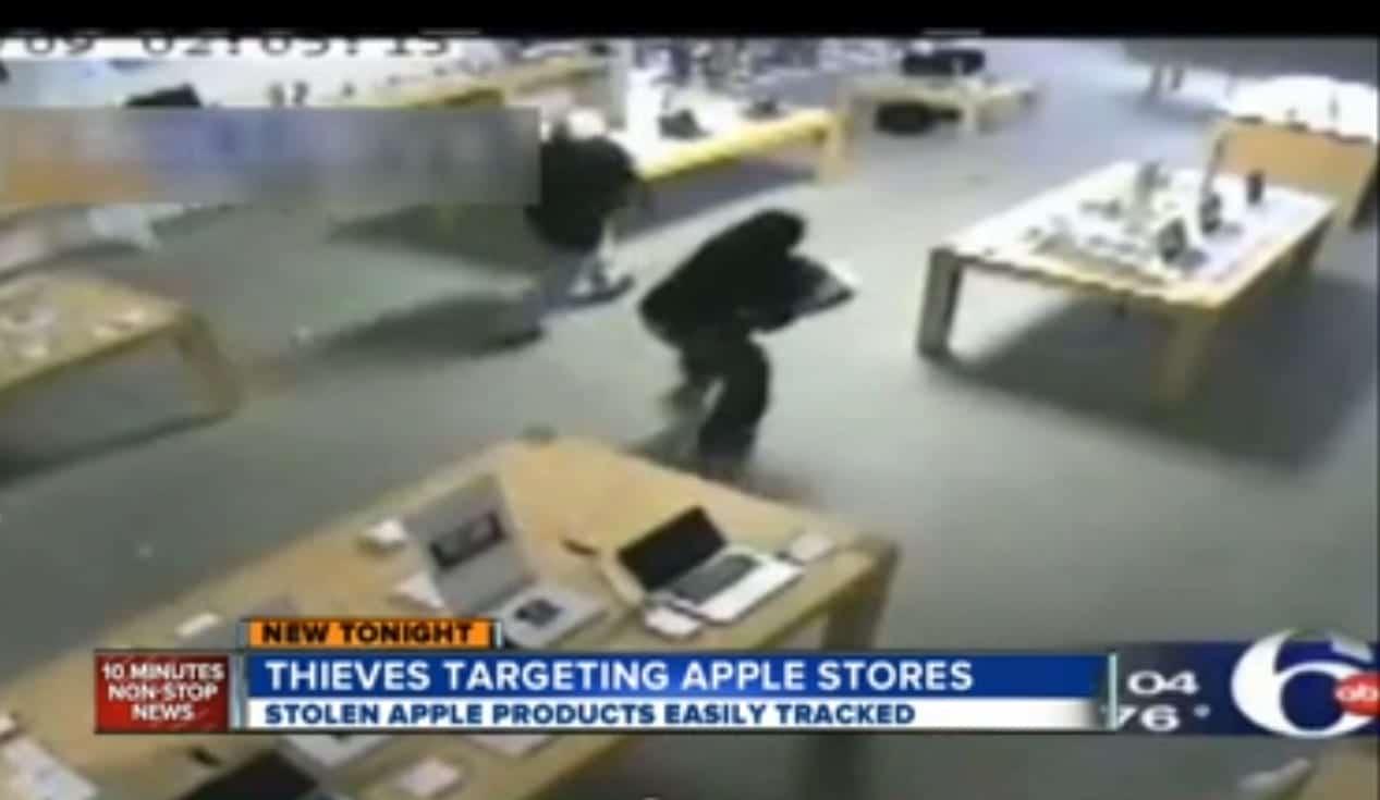 ladrones apple Rompen una puerta de 100.000 dólares para robar en una tienda de Apple