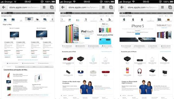 apple store La Apple Store Online se actualiza para adaptarse a los dispositivos táctiles