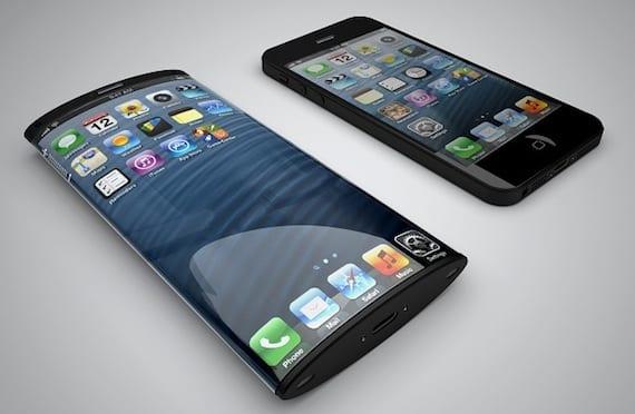 iphone pantalla curva Concepto de iPhone con pantalla curva