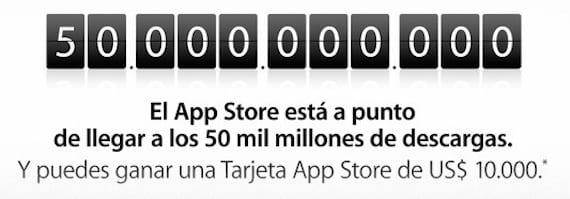 descargas app store Comienza la cuenta atrás para llegar a la descarga 50 mil millones en la App Store