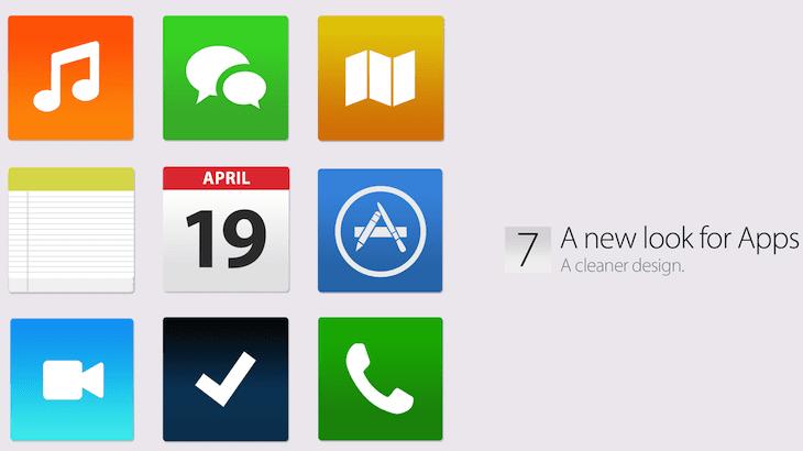 ios 7 iconos iOS 7: negro, blanco y plano