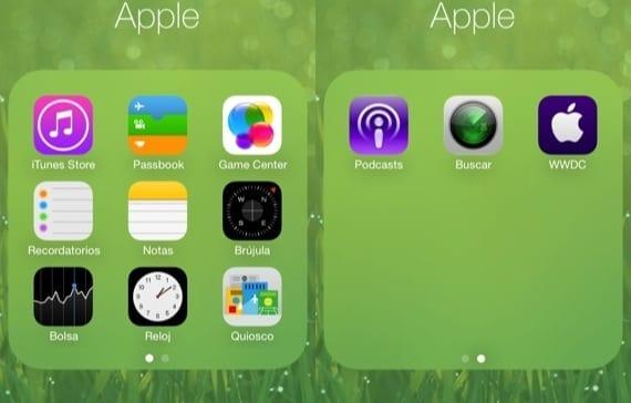 Carpetas iOS 7 Lo que iOS 7 ha copiado del jailbreak