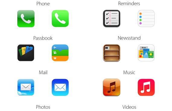 iconos ios7 1 Comparativa: iconos de iOS 6 vs iconos de iOS 7