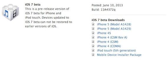 ios7 beta1 La beta de iOS 7 ya está disponible