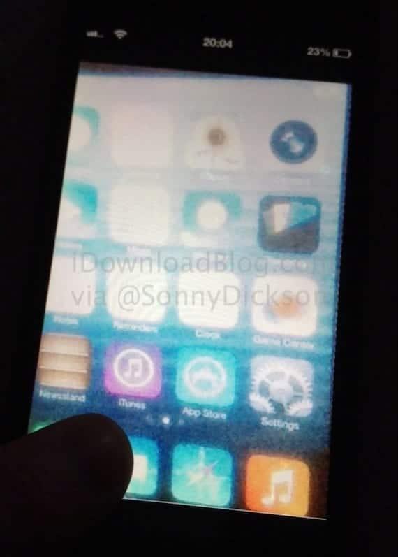 ¿Filtrada la primera captura de pantalla de iOS 7?