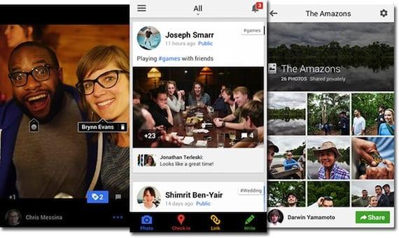 13.08.16 Google Plus Actualización de Google+ con posibilidad de subir fotos de Google Drive