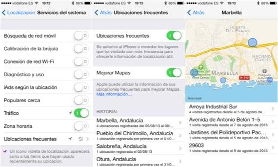 Ubicaciones frecuentes Ubicaciones frecuentes de iOS 7, ¿Cómo funcionan?
