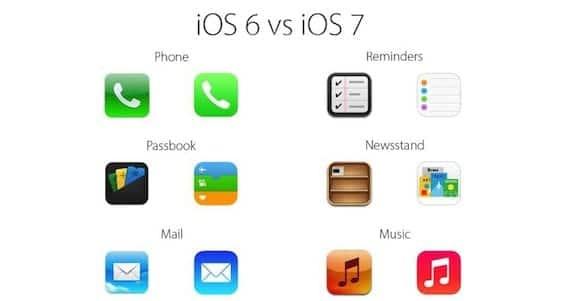 nuevos iconos de ios 7 Apple pide a los desarrolladores que empiecen a adaptar los iconos a iOS 7