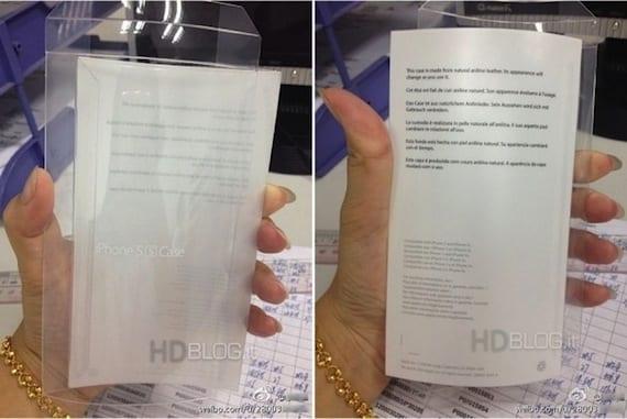 funda iphone5s piel Apple podría vender una nueva funda de piel para el iPhone 5S según una caja filtrada