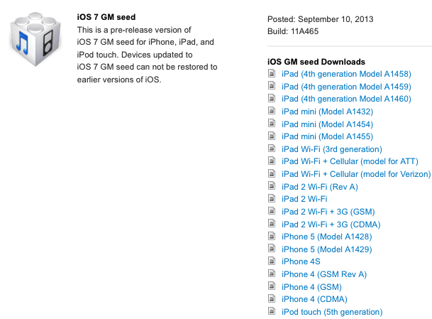 iOS 7 golden master Motivos por los que quizás no sea tan interesante actualizar a iOS 7 GM