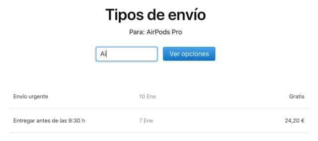 Envio AirPods Pro