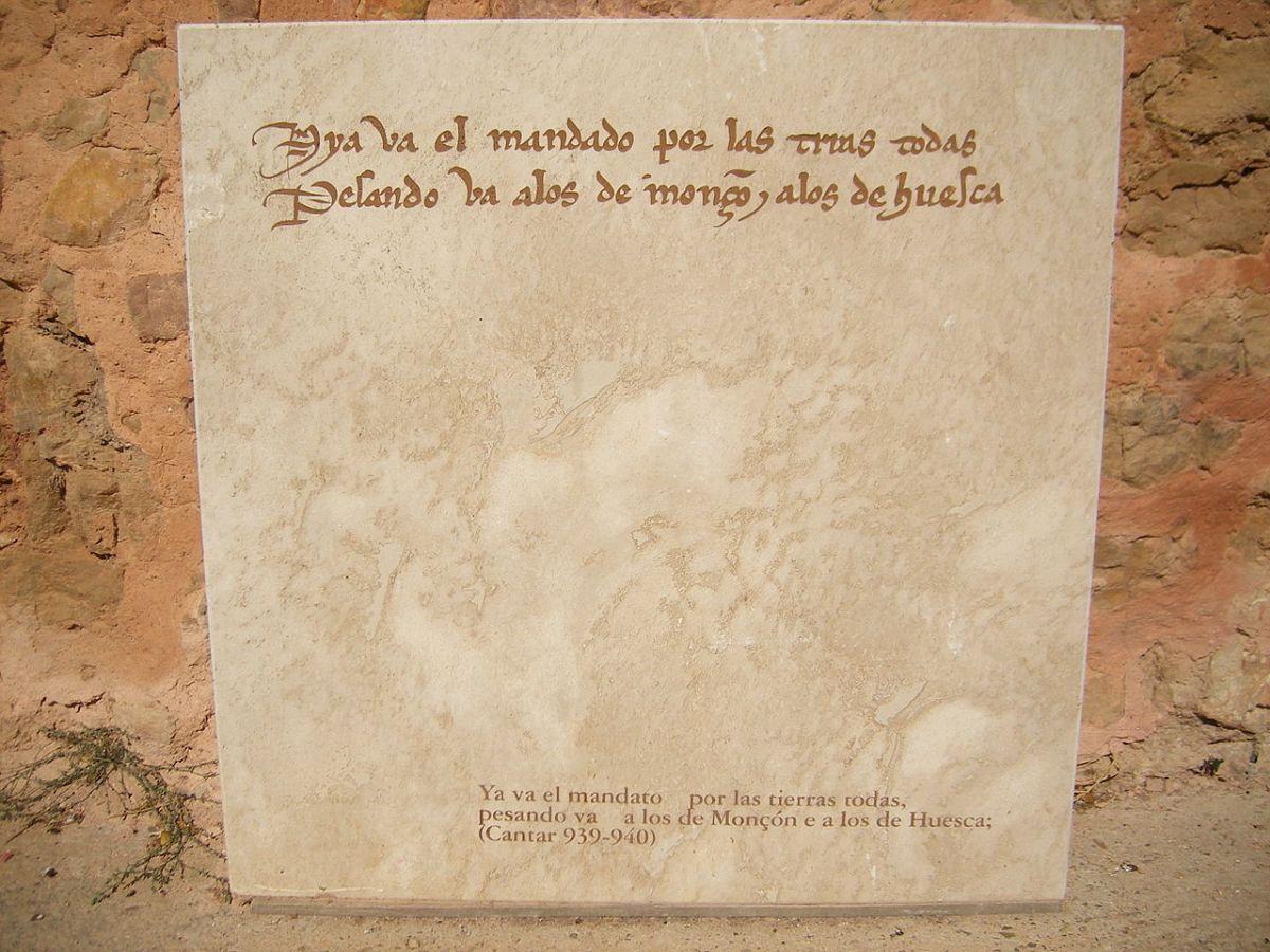 Fragmento de El cantar de Mio Cid