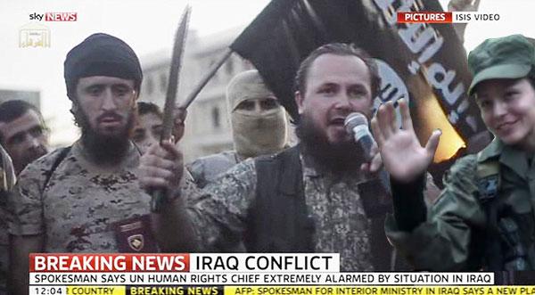 """Hola Camaradas, ya llegué"", parece decir Tanja desde Irak."