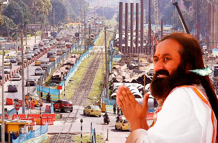 Shankar, visiblemente molesto por el caos capitalino.