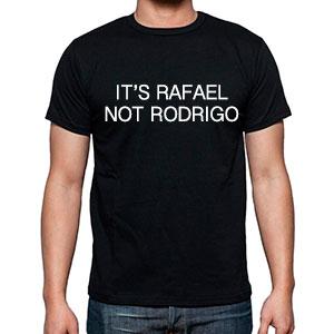 Así serán las camisetas que repartirá la campaña de Rafael.