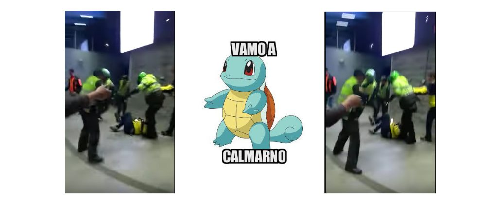 La brutal golpiza de la policía era causada por un pokemon