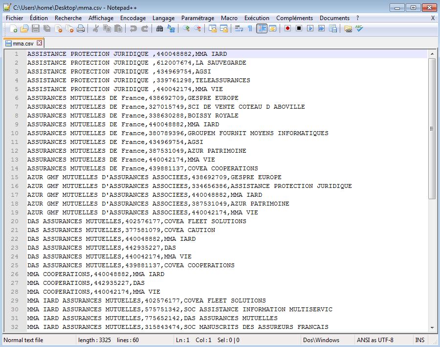Fichier relation CaseFile