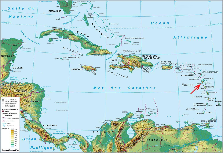 Les Antilles et ma Guadeloupe chérie ! carte des antilles