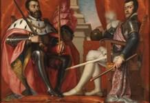 Carlos I y Felipe II de España. Por Antonio Arias (1614-1684). Museo del Prado.