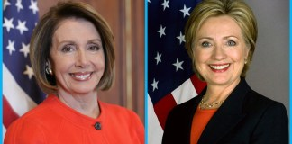Nancy Pelosi y Hillary Clinton