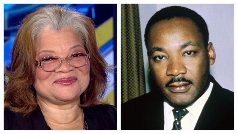Alveda C. King y Martin Luther King