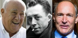 Amancio Ortega, Albert Camus y Tim Berners-Lee.