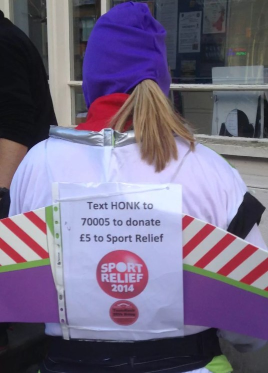 Text HONK to 70005 to donate £5 to Sport Relief