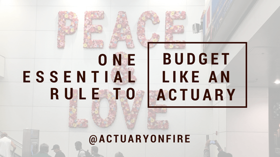 One Essential Rule to Budget Like An Actuary