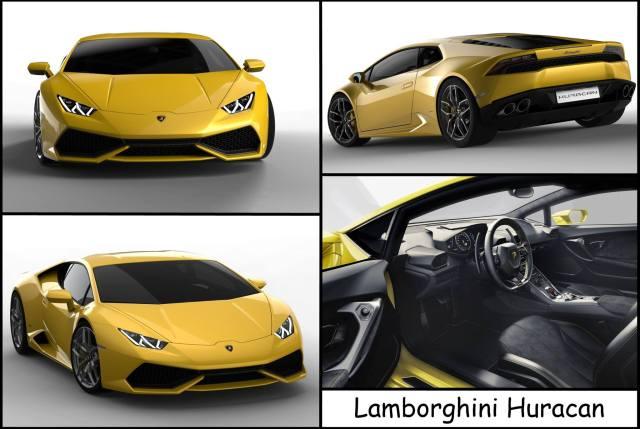 Montage de présentation pour la Lamborghini Huracan