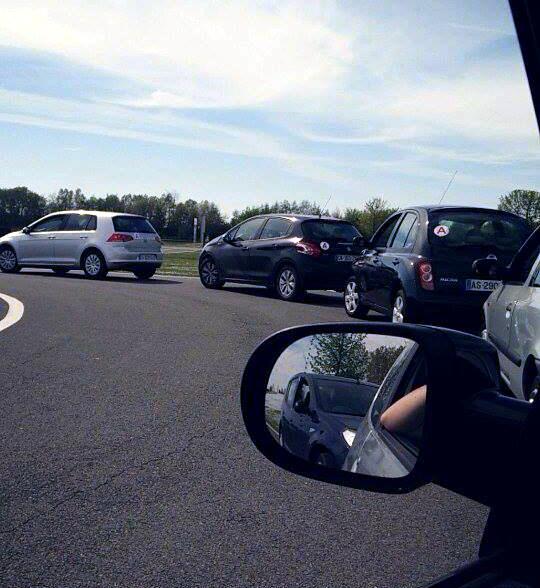 Les exercices se font un par un sur nos propres voitures