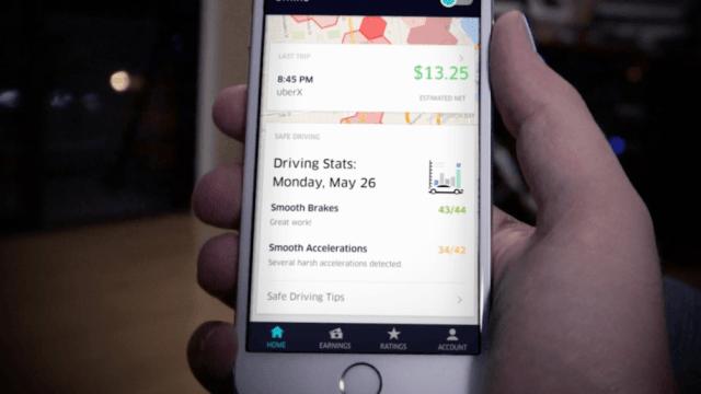 Uber se décline sous différentes applications mobiles