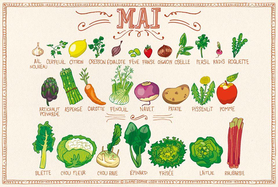 You are currently viewing Fruits et légumes de mai