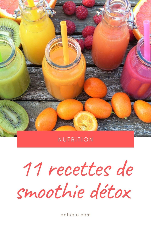 11 recette de smoothie detox