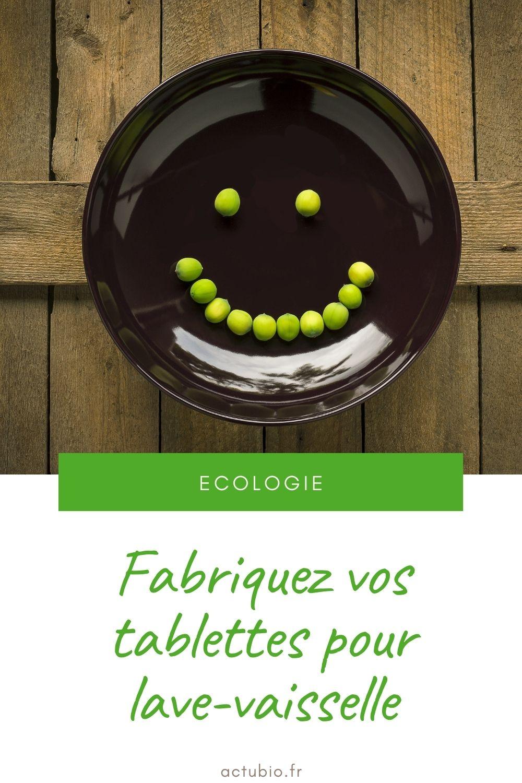 Fabriquez des tablettes pour lave vaisselle écologiques
