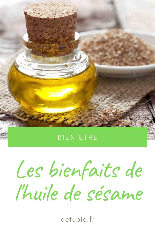 Les bienfaits et propriétés de l'huile de sésame