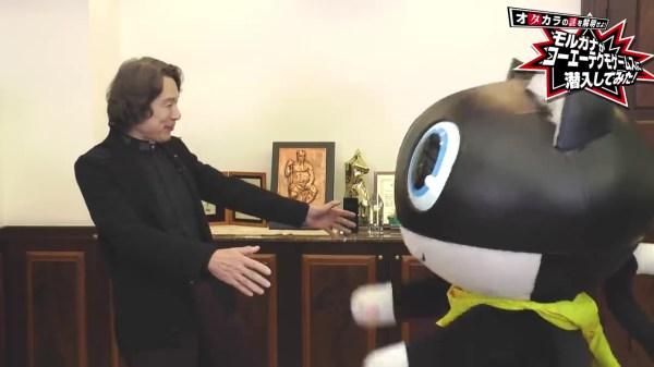 Persona 5 Scramble : Morgana visite les locaux de Koei Tecmo