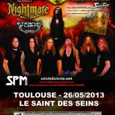Circle II Cirle + Nightmare + Eternal Flight @ Saint des Seins