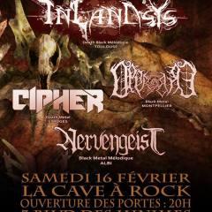 INLANDSYS + CIPHER + OPPROBRE + NERVENGEIST @ La Cave A Rock