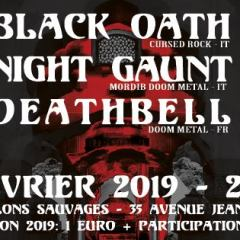 BLACK OATH + NIGHT GAUNT + DEATHBELL @ux Pavillons Sauvages
