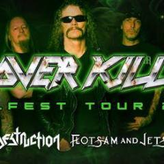 OVERKILL + DESTRUCTION + FLOTSAM & JETSAM @u Metronum
