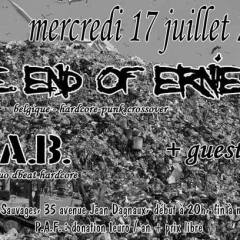 THE END OF ERNIE + W.A.B. + GUESTS @ Les Pavillons Sauvages