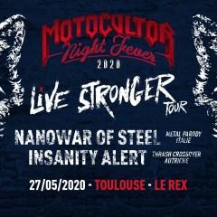 MOTOCULTOR NIGHT FEVER : NANOWAR OF STEEL + INSANITY ALERT @u Rex