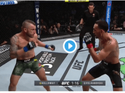 Max Holloway vs Alexander Volkanovski capture ecran – UFC 245