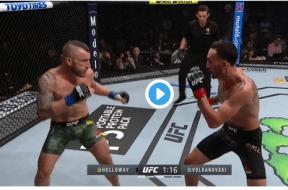 Max Holloway vs Alexander Volkanovski capture ecran – UFC 245