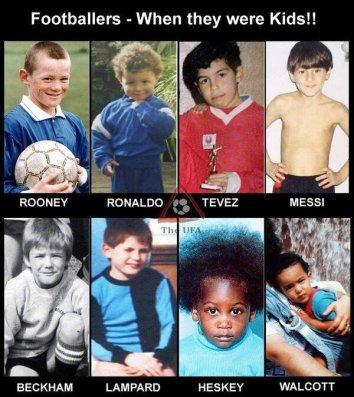 Messi Cristiano Ronaldo enfants